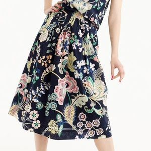 J. Crew cotton skirt in Liberty Floral